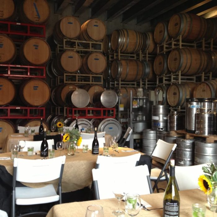 Lunch in Cellar at Lavender Ridge's Winemaker Event